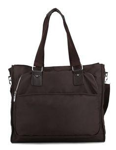 b77776fb661b17 Scarleton Squared Nylon Tote Bag H150621 - Coffee; 15.5 x 5 x 13 inches,  1lb 2oz