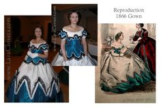 Reproduction 1866 Gown by LaraCorsets