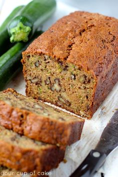 "The Best Zucchini Bread ~ ~ A perfect yummy recipe addition to the ""Recipes From Hattie's Farm Kitchen"" ~ Best Zucchini Bread, Best Zucchini Recipes, Best Zuchinni Bread Recipe, Banana Bread Recipes, Easy Zuchinni Bread, Zucchini Desserts, Zucchini Loaf, Zucchini Brownies, Köstliche Desserts"