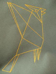 lukola handmade // embroidered bird