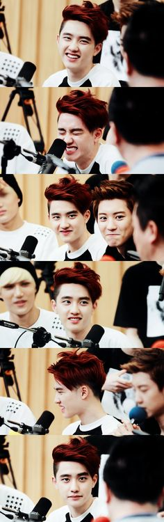 Cute red-haired Kyungsoo