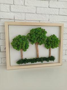 Moss Wall Art, Diy Wall Art, Moss Plant, Green Wall Art, Moss Garden, Amber Rose, Christmas Wood, Nature Crafts, Frames On Wall