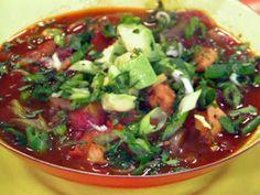 Chicken Fajita Tortilla Soup recipe from Rachael Ray via Food Network