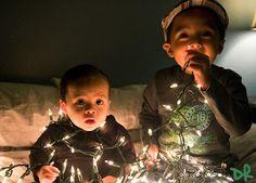 Use Christmas lights as your light source