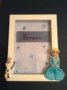 Disney Frozen Elsa and Olaf photo frame  on Etsy, $33.99