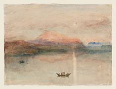Joseph Mallord William Turner 'The Red Rigi: Sample Study', c.1841–2