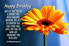 Inspirational Birthday Wishes & Birthday Quotes - Inspirational Birthday Messages Christian Happy Birthday Wishes, Happy Birthday Flowers Wishes, Birthday Wishes For Women, Happy Birthday Woman, Happy Birthday Wishes Quotes, Birthday Wishes For Myself, Happy Birthday Greetings, Inspirational Birthday Message, Quotes Inspirational