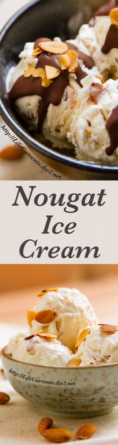 Almond Nougat Ice Cream doesn't require an ice cream machine, and is filled with almond flavor in a delicious sweet cream base!
