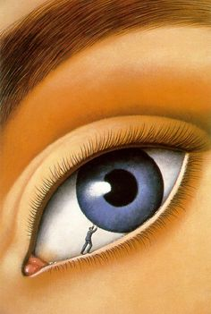 Rafal Olbinski ~ Surrealist painter http://www.pinterest.com/koleos/the-eyes-have-it/