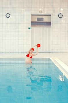 'Swimming Pool', the continuation of an ongoing photo series by Maria Svarbova. Maria Svarbova is a talented photographer who lives in Bratislava, Color Photography, Creative Photography, Amazing Photography, Portrait Photography, Swimming Pool Photography, Swimming Pools, Design Inspiration, Pictures, Swimmers
