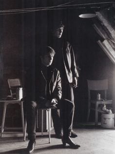"""Astrid Kirchherr: """"I took that picture in my attic just after Stuart had died. George was only 18 then, and John was broken-hearted because he'd suffered another loss. But George is standing behind him, with a look of 'I'll look after you', with a very grown-up strength in his face."""