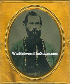 Tintype, Union Zouave In Patriotic Case