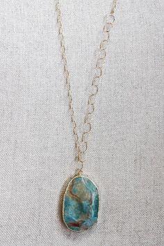 B. Alli Turquoise Stone Necklace