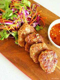 Asian chicken patties with Asian slaw | Asian recipe | @MissFoodFairy