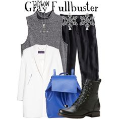 Gray Fullbuster by tallybow on Polyvore featuring H&M, MANGO, Lucky Brand, Frye, Barneys New York, Allurez, Lagos and plus size clothing