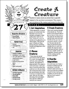 Create a Creature - Free sample lesson from Exploring the Tropical Rain Forest