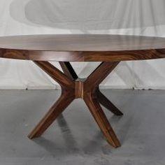 Round Tables Joliet, IL - Rustic Elements Furniture 60 Inch Round Table, Round Dining Table, Dining Room Table, Round Tables, Custom Furniture, Home Kitchens, Kitchen Decor, Rustic, Design