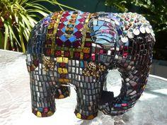 ELEPHANT GLASS TILED | Found on specialtyartglass.com.au