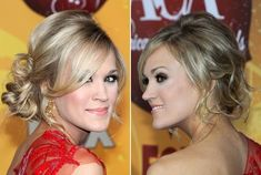 Carrie Underwood's Stunning Side-Swept Updo - Do It Yourself - How to Get Hollywood's Best Hairstyles at Home - StyleBistro