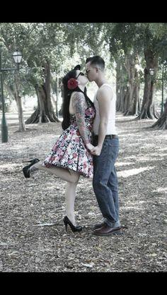 Love rockabilly couple life