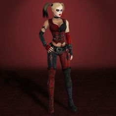 Batman Arkham City Harley Quinn by ArmaChamcorp  https://www.facebook.com/Gamers-Interest-188181998317382/
