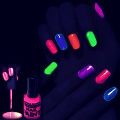 how to make glow in the dark nail polish | Brake open a glow stick and add the liquid to clear nail polish. IT IS SO EASY!!!
