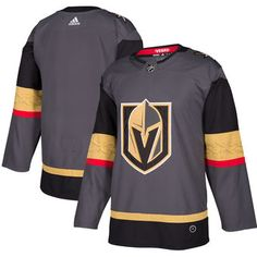 Vegas Golden Knights adidas Gray Home Authentic Blank Jersey 4da516457