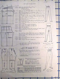 Drafting Instructions for pants. Via Flickr.