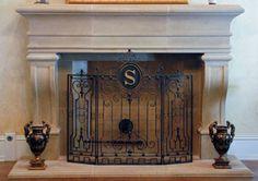 Leon Cast Stone Mantel | Fireplaces Mantels Cast Stone GFRC Precast French room home ideas Artisan Kraft