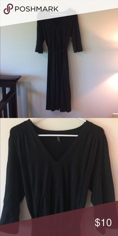 Maternity black dress by old navy Cute black maternity dress with belt by old navy! V-neck, super soft material - can be dressed up or down. Old Navy Dresses