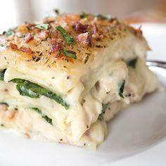 . Creamy Chicken Florentine Lasagna Recipe from Grandmothers Kitchen.