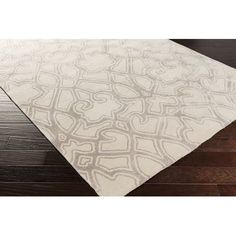 Surya Mount Perry Hand-Tufted Ivory/Light Gray Area Rug Rug Size: 8' x 11'