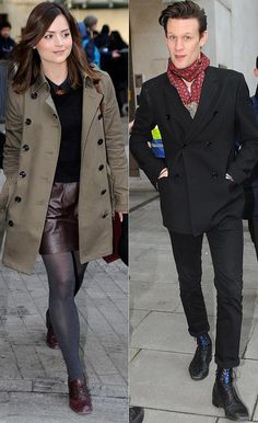 Jenna-Louise Coleman, left, and Matt Smith<-----like we needed clarification thank you