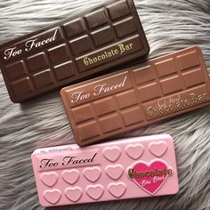 too faced chocolate palettes - love the packaging