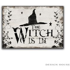Halloween Wooden Sign Halloween Decor Witch Decor Halloween Art Witch... (325 SEK) ❤ liked on Polyvore featuring home, home decor, black, home & living, home décor, wall décor, painted wood signs, distressed home decor, halloween signs and black home decor
