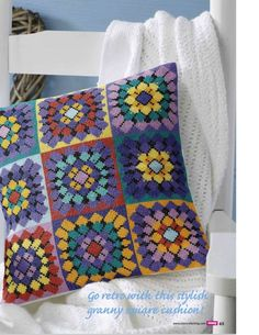 Cross Stitch Crazy 189 - Crochet Away (Cross Stitch Granny Squares...would look amazing as a quilt.) on my to-do list! 2/4