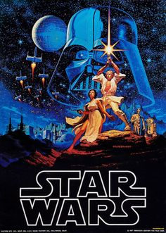 Star Wars Episode IV: A New Hope, originally released as Star Wars, is a 1977 American epic space opera film written and directed by George Lucas. Star Wars Episódio Iv, Star Wars Film, Star Wars Poster, Star Wars Art, Film Movie, Epic Film, Epic Movie, Millenium, Kino Film