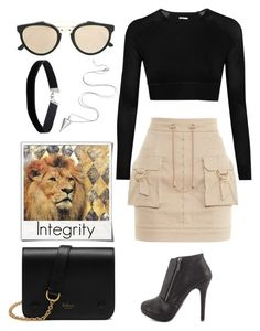 """A Safari of My Own"" by soso-alliso ❤ liked on Polyvore featuring Balmain, Michael Antonio, Ivy Park, RetroSuperFuture, Miss Selfridge, Mulberry and Polaroid"