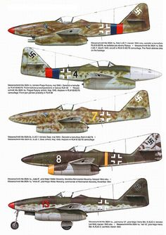 Messerschmitt Me 262 variants color II .#jorgenca