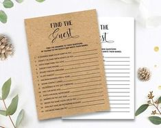 Does She Know Him Bridal Shower Games Printables Bridal Bridal Shower Question Game, Bridal Shower Questions, Fun Bridal Shower Games, Printable Bridal Shower Games, Bachelorette Party Games, Wedding Games, Matching Games, Kraft Paper, Card Games