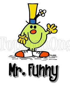 Mr. Men Funny and Little Miss T Shirt Iron on Transfer #3