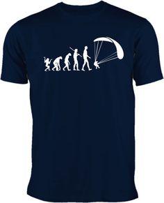 Evolution Paragliding T-Shirt das besondere Shirt für Himmelstürmer( 100% Baumwolle ) mit einem einfarbigen Flockdruck. Auf Wunsch kann ohne Aufpre...