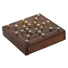 Handmade Brass and Wood Nine Mens Morris Board Game  Travel Game Gifts for Teens and Adults * Be sure to check out this awesome product.