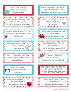 FREE Printable Valentines Lunch Box Joke Cards! One for each day of February. My daughter loves joke notes - what fun!