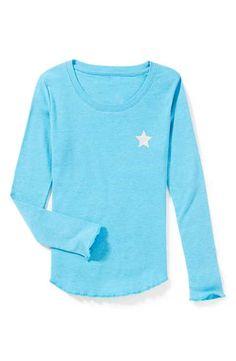 Peek 'Merci' Long Sleeve Tee (Toddler Girls, Little Girls & Big Girls)