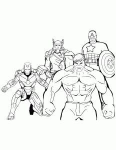 Coloriage Des Avengers Coloriage Coloriage Super Heros Et