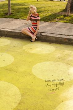 dots on the street