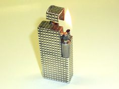 CHANTELOUP PARIS ARGENT SOLID SILVER POCKET LIGHTER - 1930 - FRANCE - VERY RARE