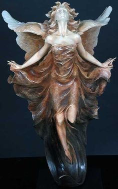 """Transcendence"" by Gaylord Ho.  Bronze Sculpture, 3/4 scale."