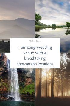 #Mbulwa #Estate is a #private #luxury #wedding #venue which includes #MountainViews a #PrivateWaterfall #Forests and #lakes.  Contact us today for our amazing #wedding #packages.